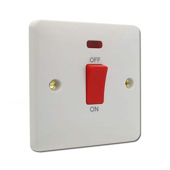 45 AMP DP Switch 1 Gang Plate Cooker Switch