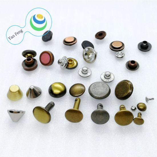 Metal Alloy Brass Blind Hollow Solid Fastener Screw Jeans Cap Rivet for Hardware Accessories