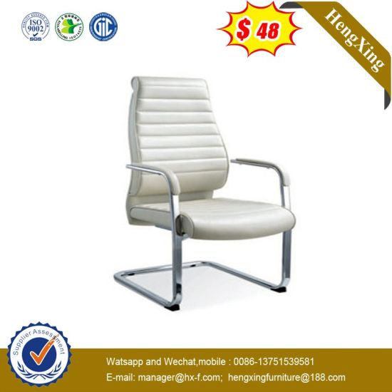 Italy Design Ergonomic Meeting Room Waiting Visitor Leather Conference Chair pictures & photos