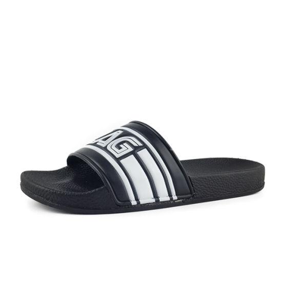 Greatshoe Fashion Men Sandal Logo Custom Slides Black Antislip Bathroom Slippers Slide Sandal