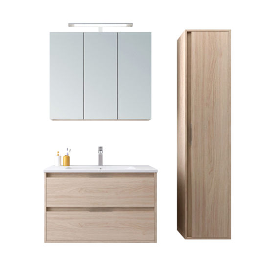 High Quality European Style MDF Cabinets with Mirror and Side Vanities