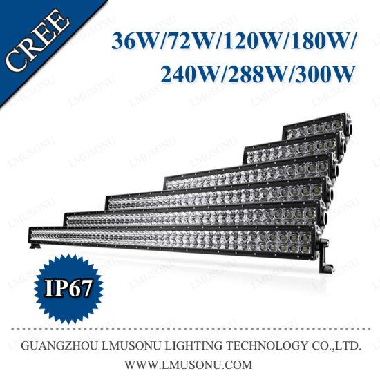 36W 72W 120W 180W 240W 288W 300W 50 Inch CREE Car off Road LED Light Bar