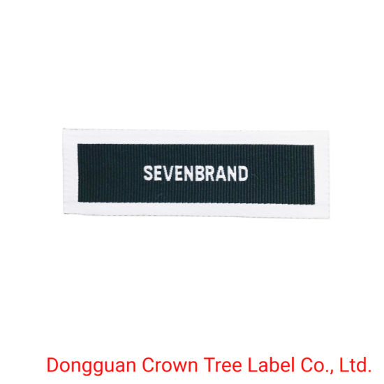 Custom Logo Factory Price Clothing Woven Label with End Fold