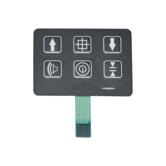 Keyboard Remote Control Membrane Keypad with Metal Dome and LED
