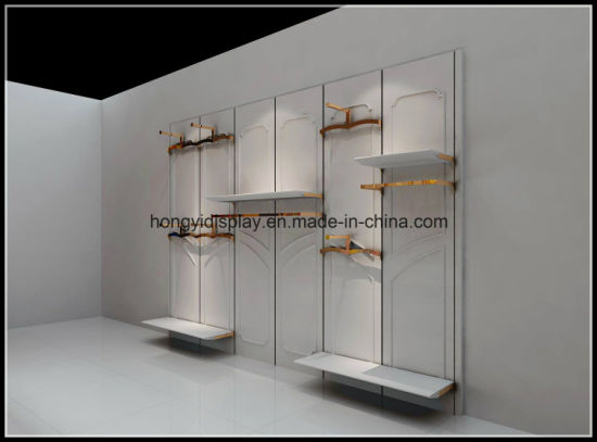 Wall Panel with Metal Hanger Rack, Slatwall, Wall Shelf