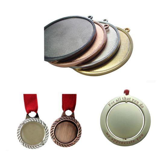 Custom Made Engraved Personalised Gold Plated Metal Laser Blank Medal
