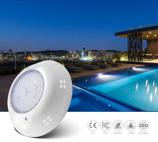 RGB Switch Control AC12V 18W IP68 Waterproof LED Wall Mount Concrete LED Vinyl Swimming Pool Light