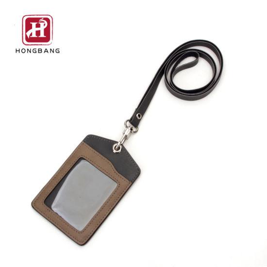 ID Card Holder with Lanyard Transparent TPU ID Window Card Holder