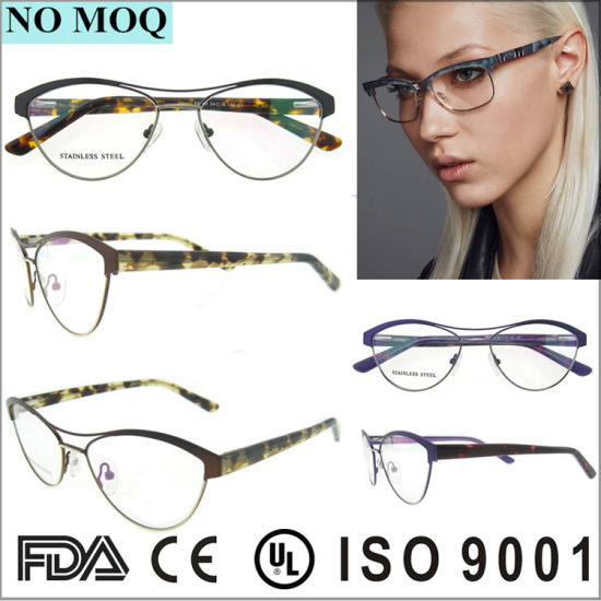 304a009514 No MOQ Fashion Irregular Stainless Eyewear Frame for Ladies with Double  Bridges pictures   photos