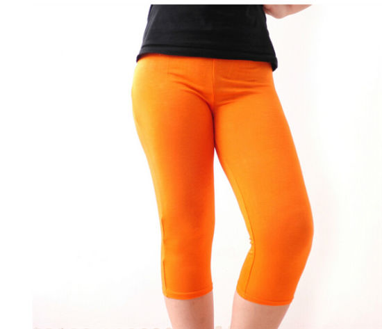 Women Plus Size Xxxl Candy Color High Elestic Modal Legging pictures & photos