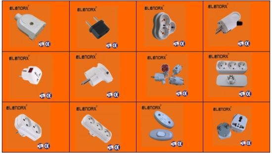 Elendx EU Power Supply Electric Plug Universal Adaptor (P7045) pictures & photos