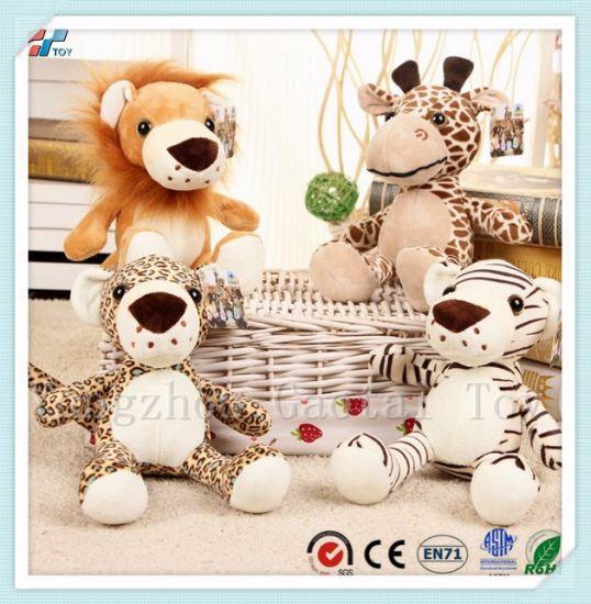 China 4 Pack Stuffed Jungle Animal Plush Lion Toy China