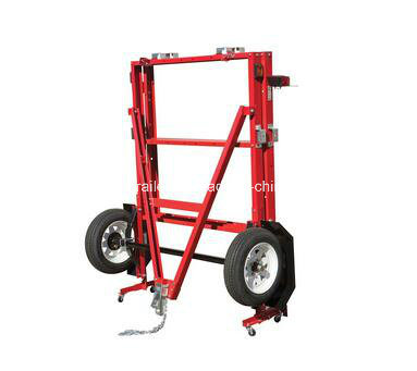 48 in. X 96 in. Red Folding Utility /Car Trailer