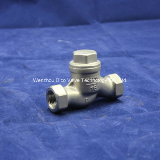 CF8/CF8m/CF3/CF3m Lift Check Valve with NPT/Bsp/BSPT Thread pictures & photos