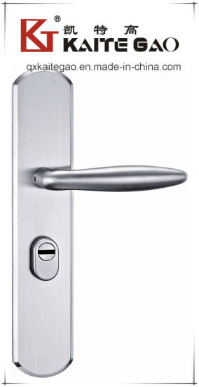 304 Stainless Steel Hollow Door Handle on Plate (KTG-6809-027) pictures & photos