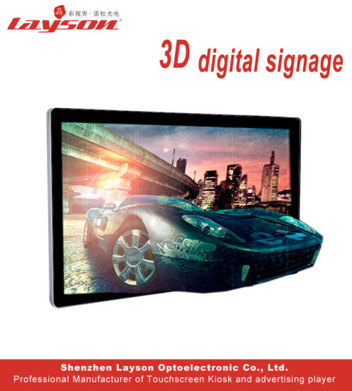 55 Inch 3D Indoor Full Color LED Panel LCD Digital Screen Commercial  Advertising Video Display