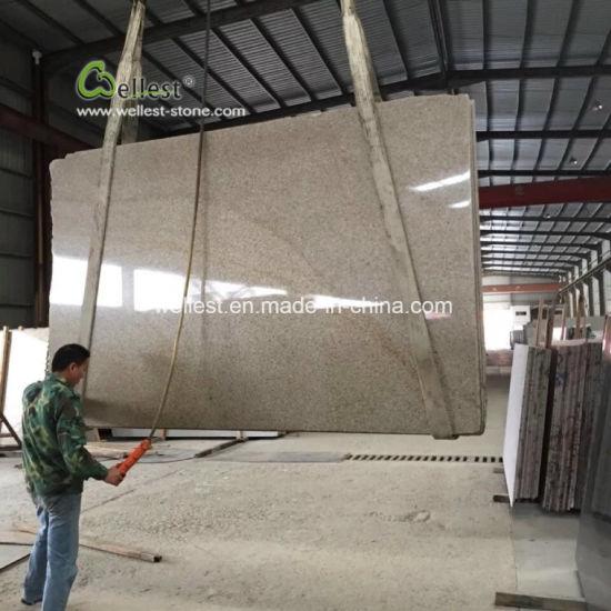 G682 Rustic Yellow Granite Slabs Pre Cut Countertops Prefabricated