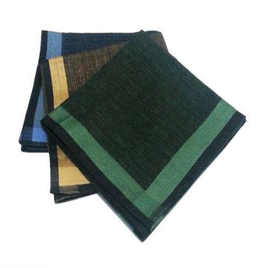 2015 China Wholesale Customized White Cotton Mens Handkerchief