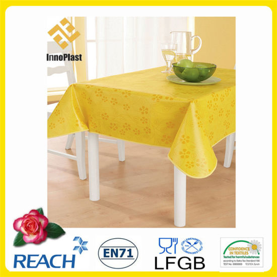 PVC Table Cloths with Nonwoven Backing Dining/Outdoor pictures & photos