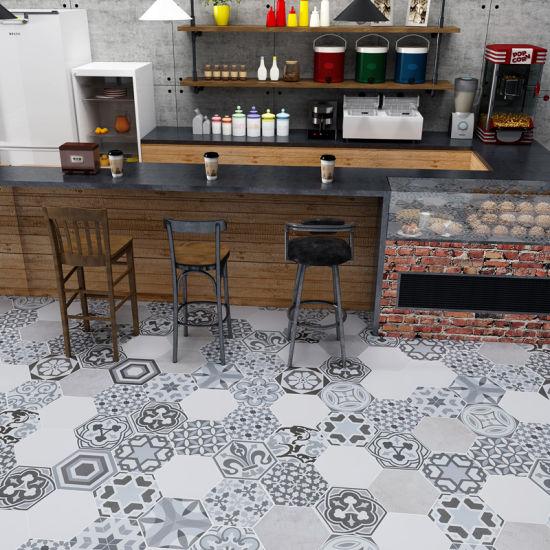 Hexagonal Cement Tile Handmade Ceramic Matt Handcraft Decorative Tiles