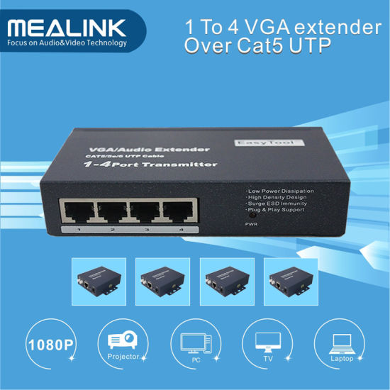 200m 1 to 4 VGA Extender (1 sender, 4 receiver) pictures & photos