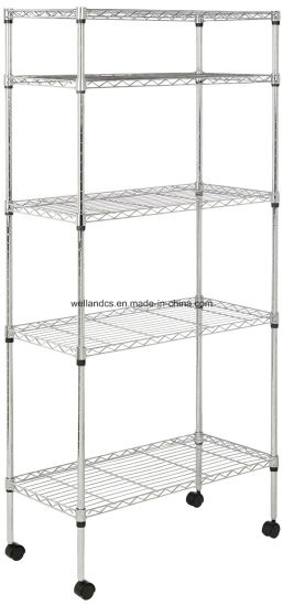 Online Hot Sale 5 Tier Silver Home Organizer Shelving pictures & photos
