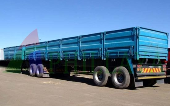 3-Axle 60t Cargo Side Wall Semi Trailer pictures & photos
