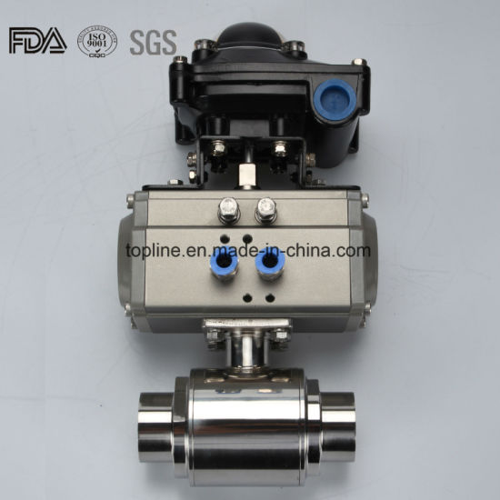 Sanitary Pneumatic Ball Valve with Welding Ends