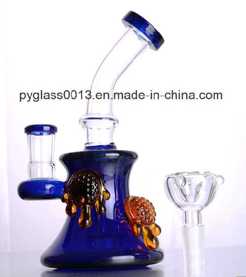Factory Supply New Design Glass Water Pipe Colorful Beaker Smoking Pipe