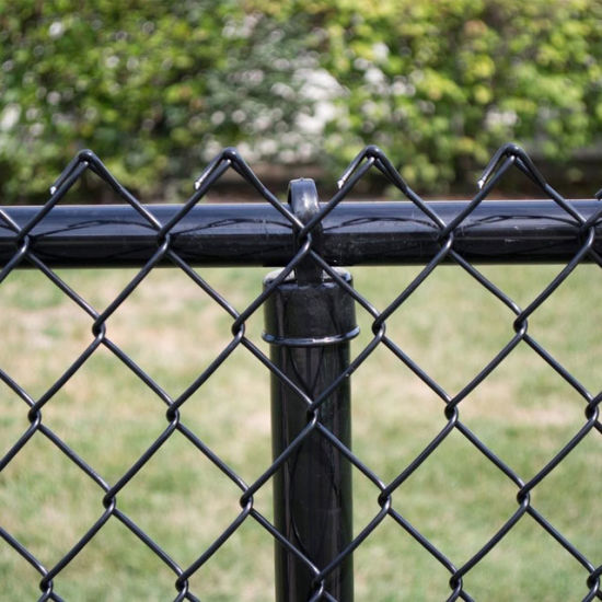 Vinyl-Coated Wire Fencing 4 x 6 Height x 24 Length Black