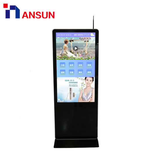 Free Stand Wireless Android USB Video Pictures Digital Signage LCD Display pictures & photos