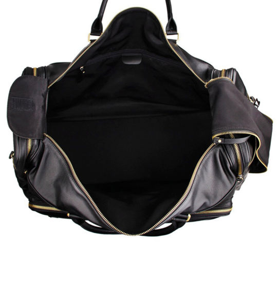 Wholesale Price Good Quality Large Capacity Black Leather Weekend Bag Leather Duffle Bag pictures & photos