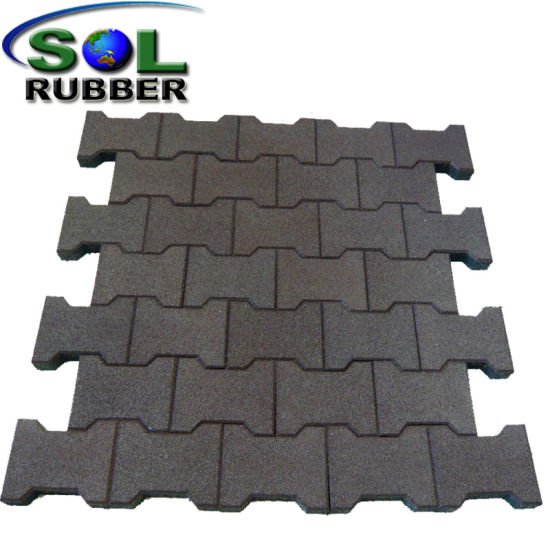China Easy Installation Outdoor Rubber Mat Rubber Floor Tile China