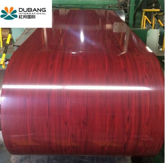 Beautiful Wooden Pattern Designed Coated Steel Coil PPGI pictures & photos