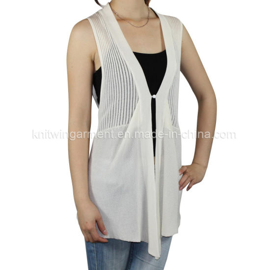 0450e7f5c5adc Women Knitted V Neck Sleeveless Fashion Clothes with Buttons pictures    photos