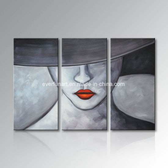 Beautiful Modern Figure Elegant Woman Canvas Art Bed Room Decoration (FI-086) pictures & photos