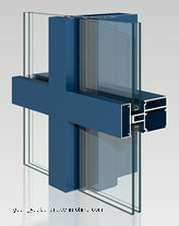 Factory 6000s Extrusion Aluminium Visible Curtain Wall Profiles pictures & photos