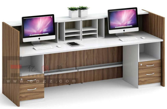 Modern L Shaped Office Counter Design Reception Desk Used