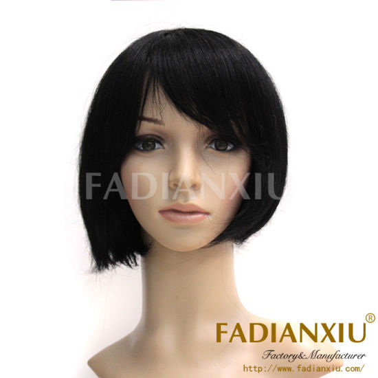 Brazilian Human Remy Short Hair Lace Front Wigs with Bangs pictures & photos