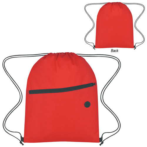 9edb2d585d5c China Non-Woven Sports Pack with Front Zipper - China Drawstring Bag ...