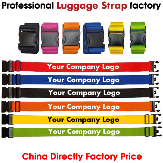 Suitcase Belt with Customer Logo, Luggage Strap, Suitcase Strap, Luggage Belt, Trolley Case Belt, Polyester Belt, Promotional Gift Belt,