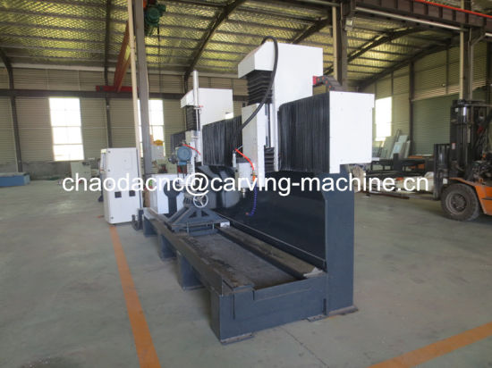 Cylinder CNC Stone Engraver Machine with Saw Blade for Roman Pillar Engraving pictures & photos