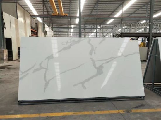 Snow White Quartz Artificial Stone For Engineer Stone Worktop Countertops