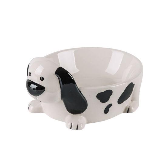 Ceramic Creative Hand Color Exquisite Dog Head Bowl Pet For Cat Food Supplies