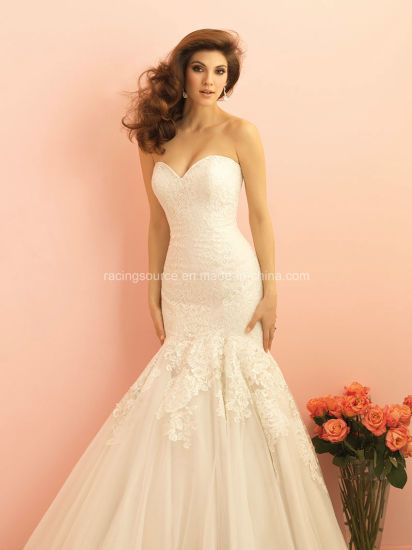 Custom Made Strapless Lace Bridal Gown Mermaid Wedding Dress