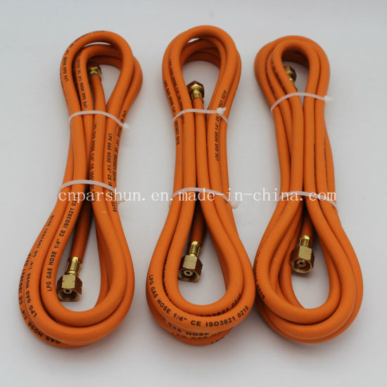 "ISO3821 Working Pressure 20 Bar 1/4"" Inch 6mm LPG Hose with Fittings pictures & photos"