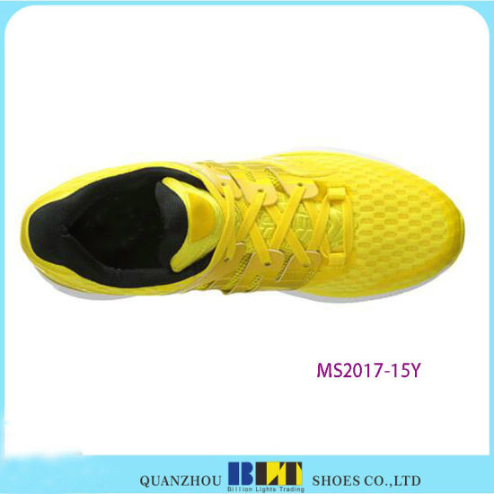 Yellow Design Athletic Shoe for Men pictures & photos