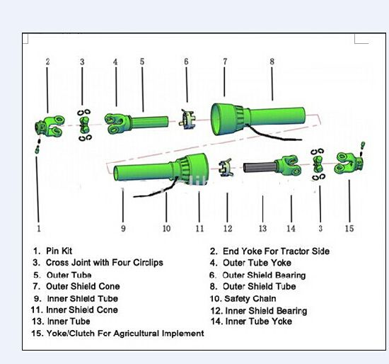 tractor pto shafts parts