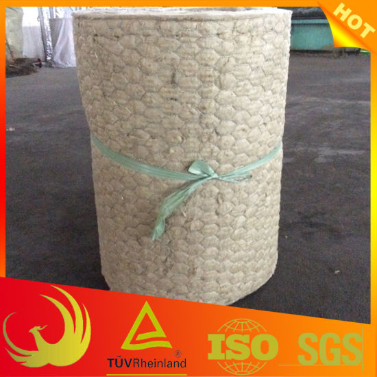 Thermal Heat Insulation Material Rock-Wool Blanket with Wire Mesh pictures & photos