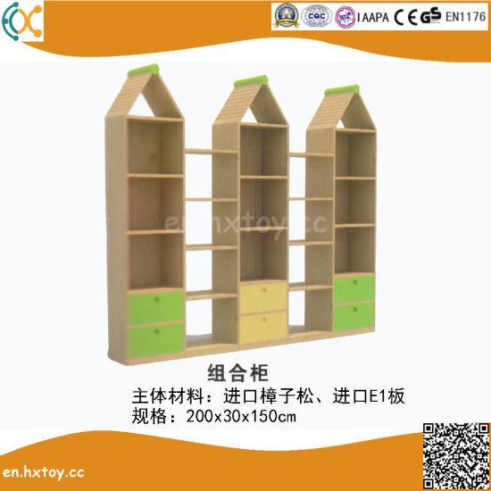2018 Latest Kindergarten Children Wooden Toy Shelf